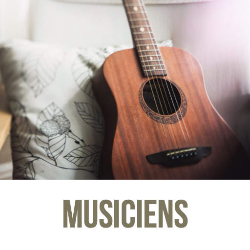 Musiciens guitare piano basse batterie s