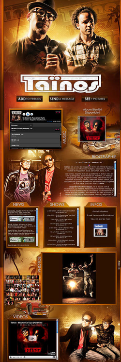 site officiel taïnos myspace design