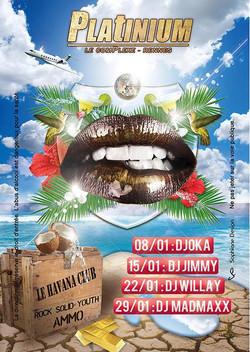 flyer discotheque le platinium