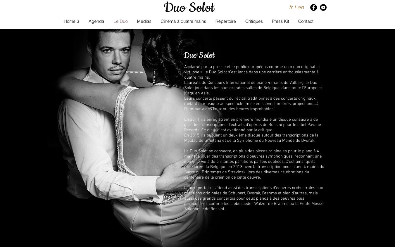 conception site web musique