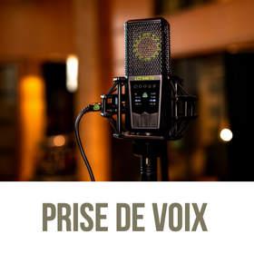 Prise de voix - enregistrement Studio Pr