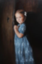 Girl In Blue oil painting by Stephen Sensenig