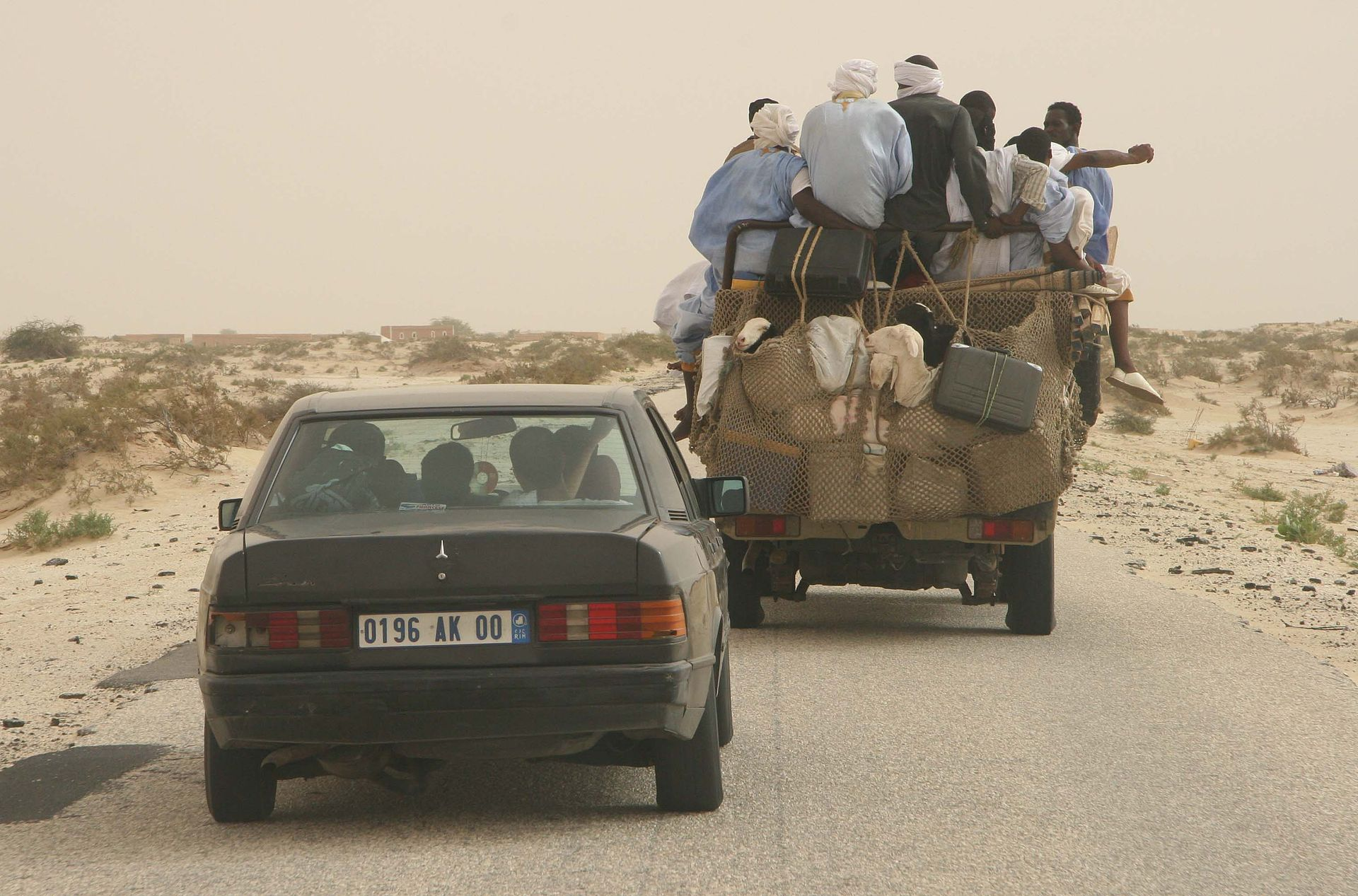 Road from Nouakchott to Mauritanian