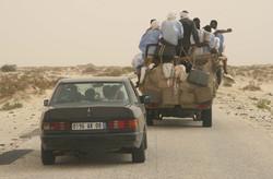 Road from Nouakchott to Mauritanian
