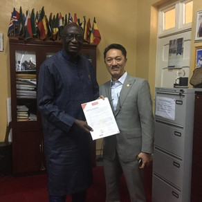 Met Minister of Fisheries (The Gambia)