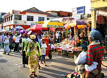 Accra market scene