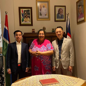 Special Envoy on Ocean Resources, Dr. Zhang-An Shun JP checked in Embassy of The Gambia in Malaysia