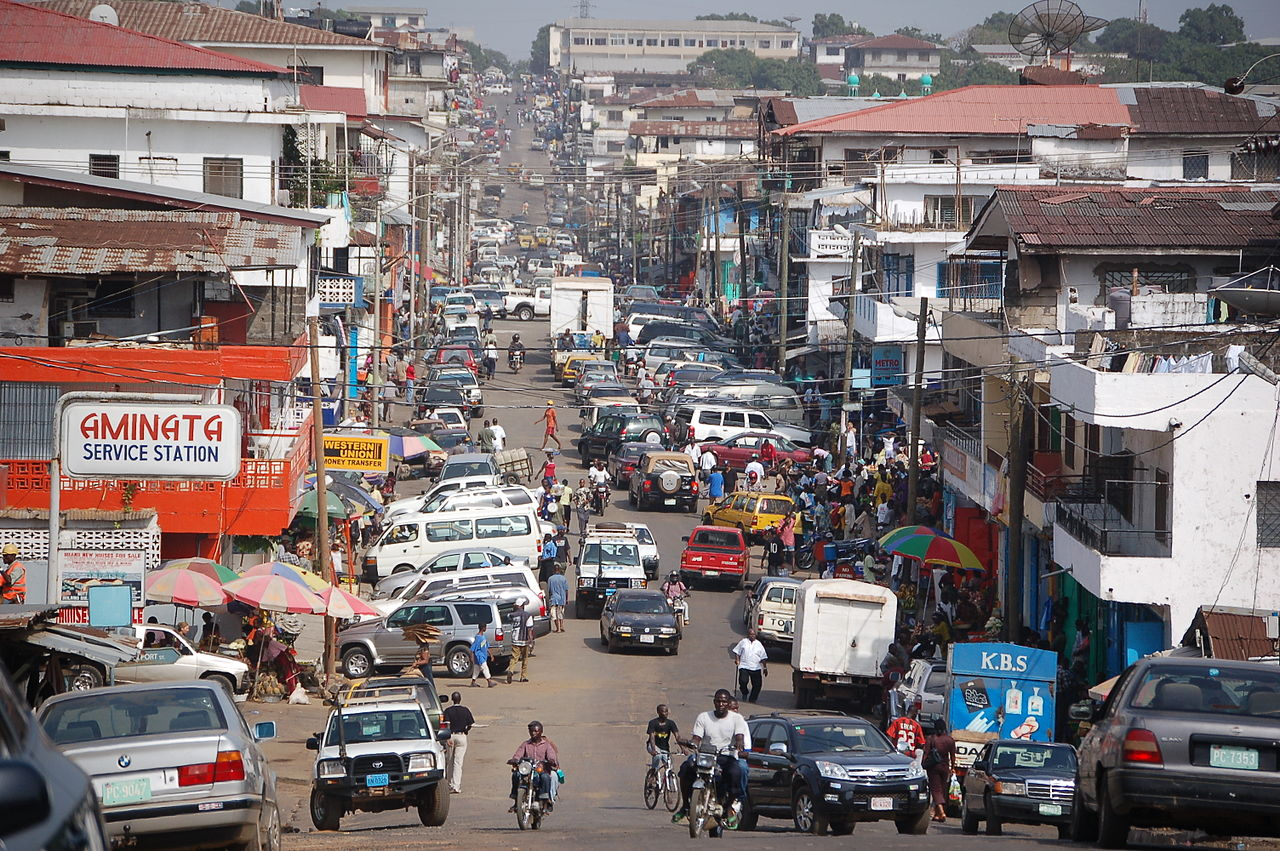 The streets of downtown Monrovia