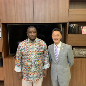 Met President of Sierra Leone