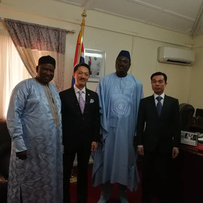 Met Minister of Foreign Affairs (The Gambia)会见西非冈比亚外交部部长