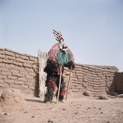 A masked Winiama dancer, ca.1970