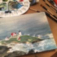 Nubble Lighthouse by Lorenda Harder