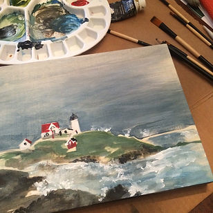 Nubble Lighthouse by Lorenda Harder