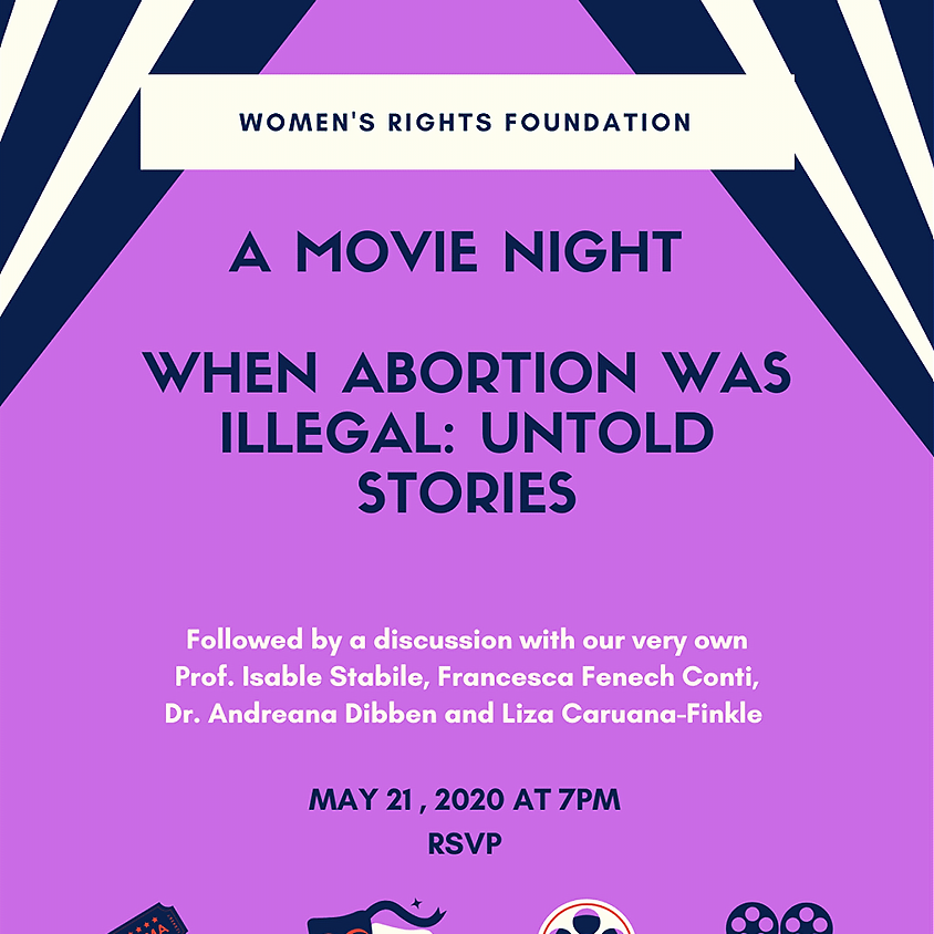 Discussion night - When abortion was illegal