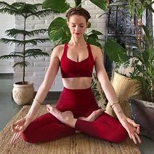 Maiwenn meditating