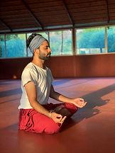 Akshit meditating