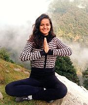 Vanshika meditating