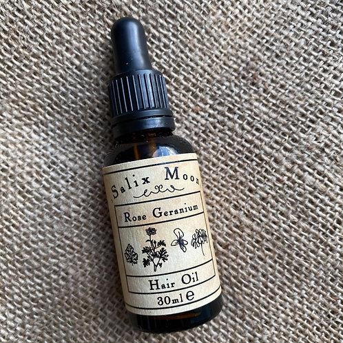 Salix Moon Apothecary Hair Oil - Rose Geranium