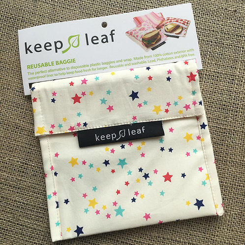 Keep Leaf Reusable Sandwich Baggie - Stars