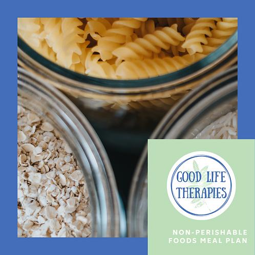 Non-Perishable Food Meal Plan