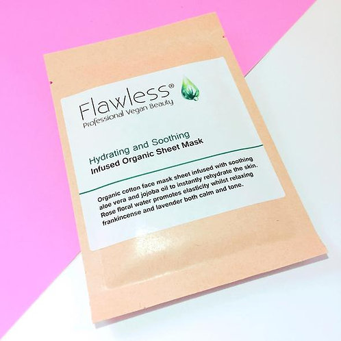Flawless Infused Organic Sheet Mask - Hydrating & Soothing