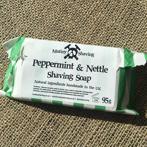 Mutiny Shaving Soap - Peppermint & Nettle