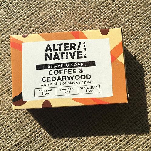 Alter/Native Shaving Soap - Coffee & Cedarwood