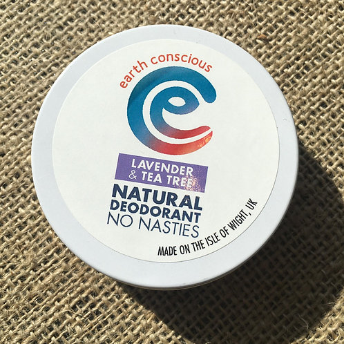 Earth Conscious Deodorant Tin - Lavender & Tea Tree