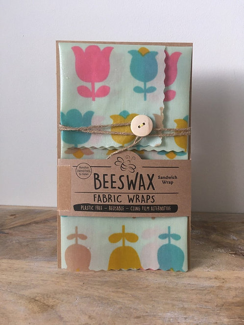 Beeswax Fabric Wraps - Sandwich Wrap