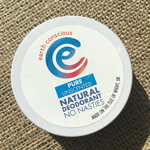 Earth Conscious Deodorant Tin - Pure Unscented