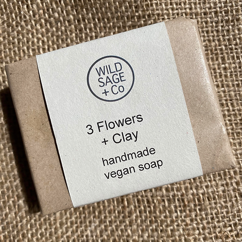 Wild Sage + Co Soap - 3 Flowers & Clay