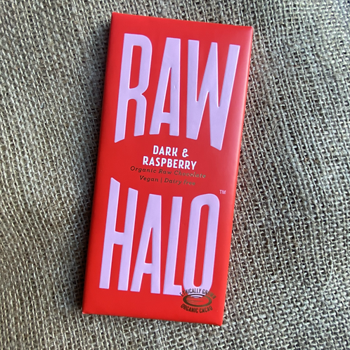Raw Halo Organic Raw Chocolate - Dark & Raspberry