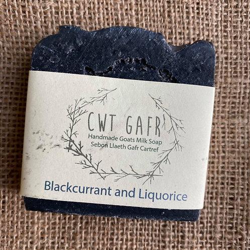 Cwt Gafr Handmade Soap - Blackcurrant & Liquorice
