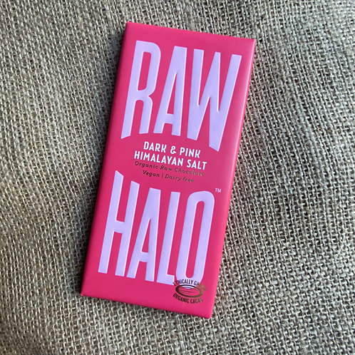Raw Halo Organic Raw Chocolate - Dark & Pink Himalayan Salt