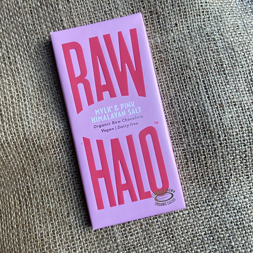 Raw Halo Organic Raw Chocolate - Mylk & Pink Himalayan Salt