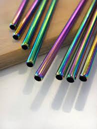 Rainbow Metal Straw