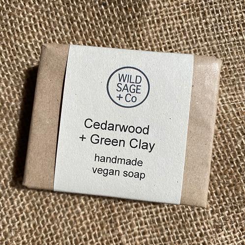 Wild Sage + Co Soap - Cedarwood & Green Clay