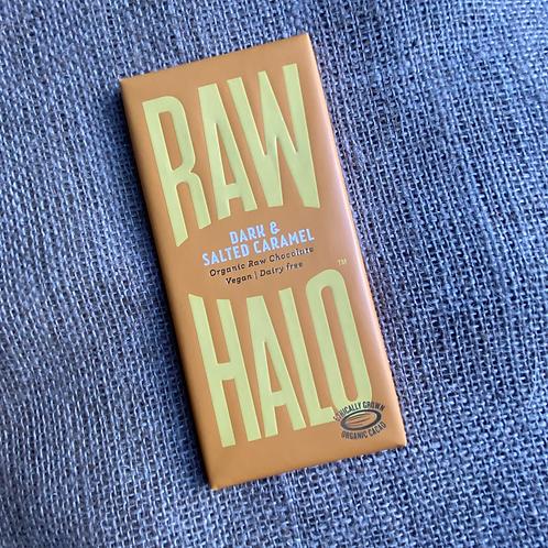 Raw Halo Organic Raw Chocolate - Dark & Salted Caramel