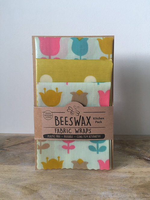 Beeswax Fabric Wraps - Kitchen Pack