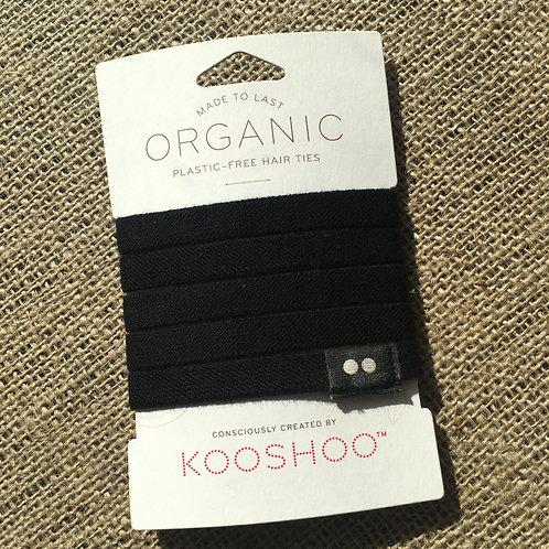 Kooshoo Organic Plastic-Free Hair Ties - Black