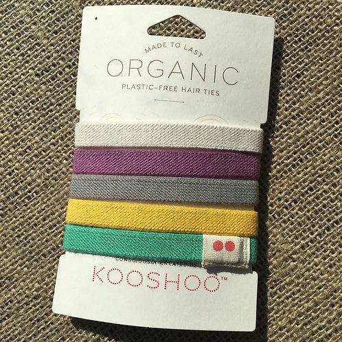 Kooshoo Organic Plastic-Free Hair Ties -Colourful