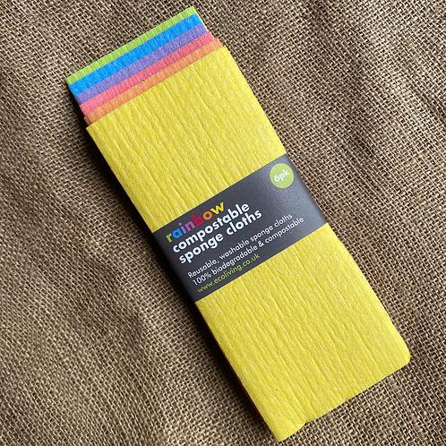 Rainbow Compostable Sponge Cloths