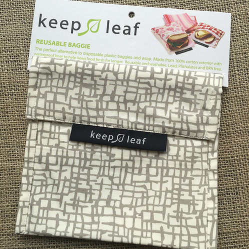Keep Leaf Reusable Sandwich Baggie - Grey Mesh