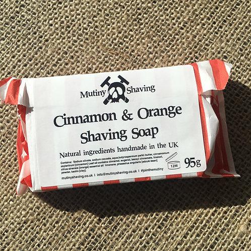 Mutiny Shaving Soap - Cinnamon & Orange