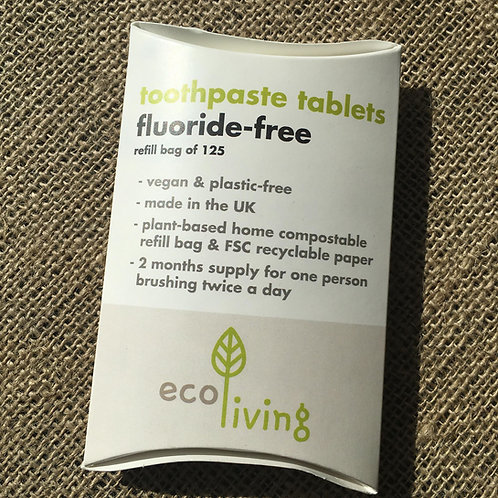 Toothpaste Tablets Refill Pouch Fluoride Free