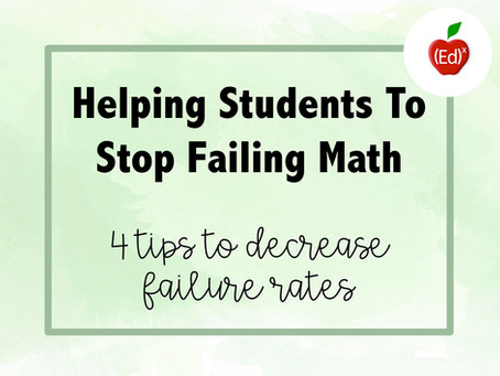 Helping Students To Stop Failing Math