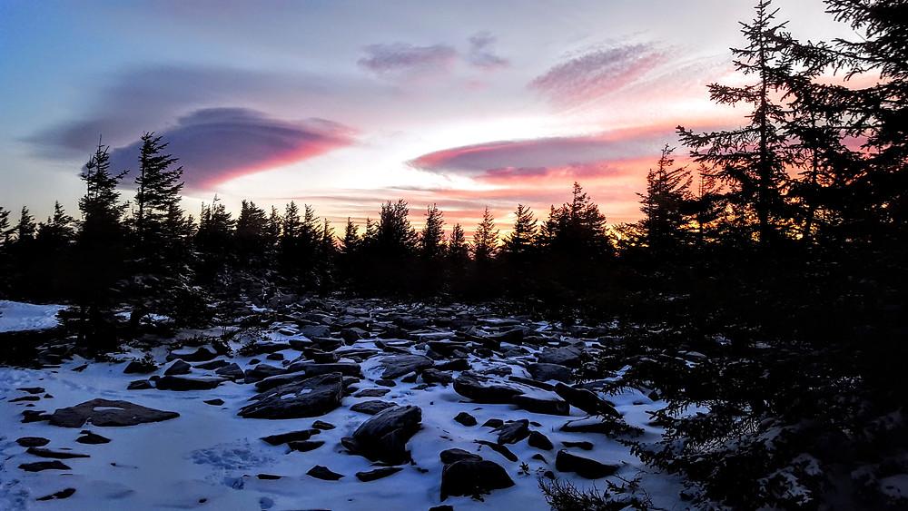 Lenticular Clouds at Spruce Knob