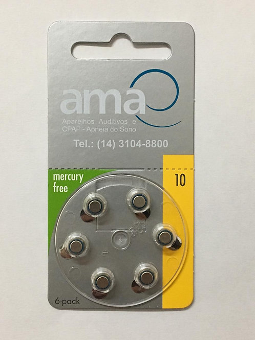 Bateria para aparelhos auditivos -P10