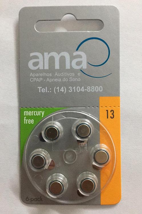 Bateria para aparelhos auditivos-P13