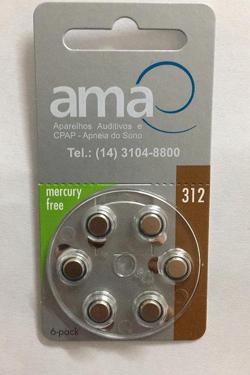 Bateria para aparelhos auditivos-P312